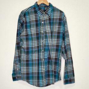 Van Heusen Long Sleeve Mens Dress Shirt Sz Large